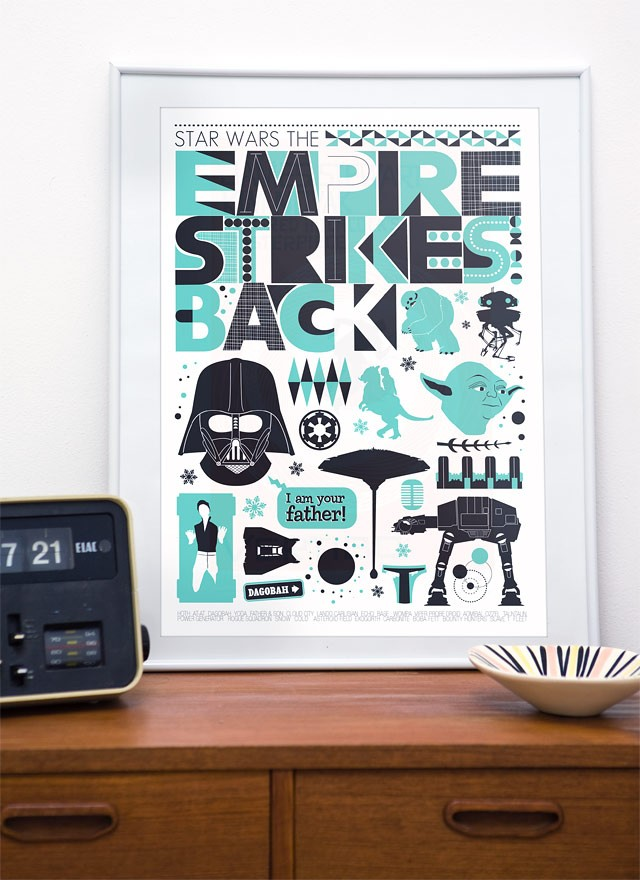 Star Wars - Empire strikes back poster, movie poster, nursery art A3